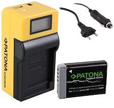 Patona Premium Akku NB-13L + LCD  Ladegerät f. Canon PowerShot 7 X, G5 X, G9 X