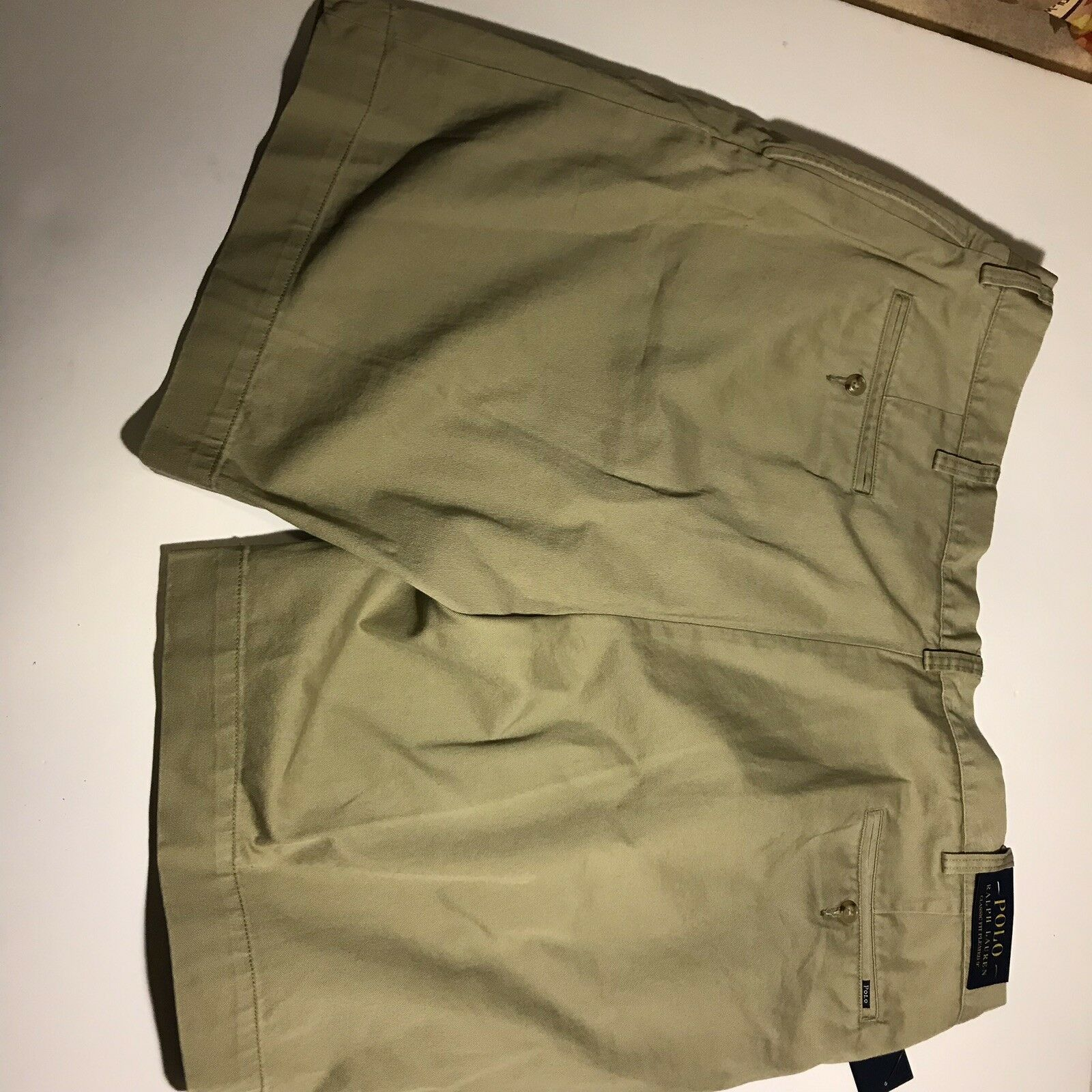 Polo Ralph Lauren Khaki Shorts Size 40 Brown Tan Beige New with Tags