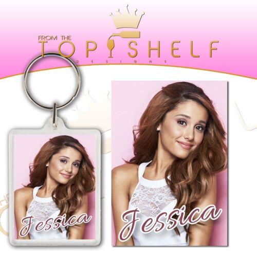 Personalised Ariana Grande keyring any name bag tag