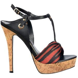 2ba87d12ce7 Ladies Cork T Bar Platform Stiletto Sandal High Heel Peep Toe Ankle ...