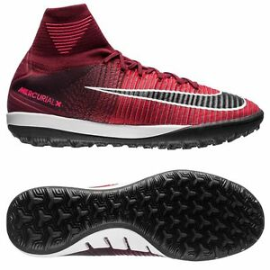 apretado Excretar Deseo  Nike Mercurial X Proximo II TF 2017 FlyKnit Turf Soccer Shoes Red - Black |  eBay