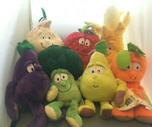 7-x-co-op-goodness-gang-fruit-amp-vegetable-plush-toy-bundle-Garlic-pear-broccoli
