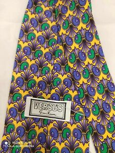 CRAVATTA-GIANNI-VERSACE-ART-V7-UOMO-100-PURA-seta-SILK-made-in-Italy