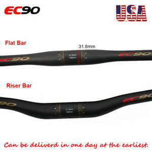 EC90 Carbon Mountain Bike Handlebar MTB 31.8 Carbon Fiber Riser//Flat Handle Bar