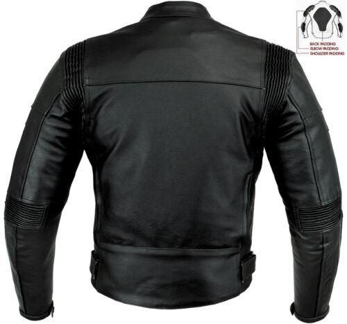 Knight Rider Stil Slim Fit Herren Ce Protektor Motorrad/Motorradjacke aus Leder Reithelme & -schutzkleidung Reit- & Fahrsport-Artikel