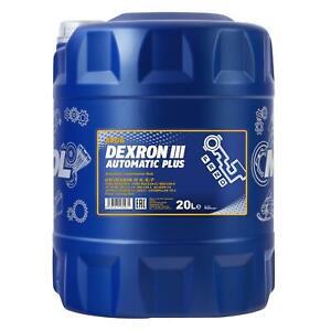 20 (1x20) Litre Mannol Dexron III G /H/F Automatique Transmission / Atf Huile /