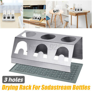 Stainless-Steel-Cup-Bottle-Holder-Drainer-Drying-Rack-For-Soda-Stream-Bottles-AU