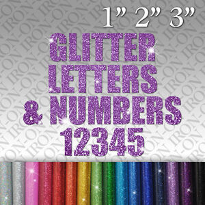 image is loading custom glitter names letters amp numbers iron on