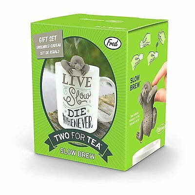 Fred & Friends TEA FOR TWO Infuser and Mug Gift Set, Slow Brew