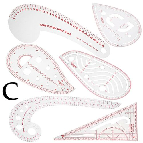 Sew French Curve Metric Ruler Multi-function Sewing Dressmaking Tailor Tool Kit