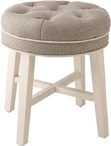 New Small Gray Vanity Stool Chair Makeup Bench Seat Bathroom Bedroom Furniture Ebay