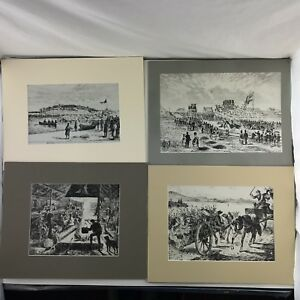 Lot-of-4-Canadian-Illustrated-News-CBC-TV-Illustration-Boards-1880-1872-1870
