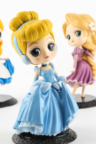 Q posket Disney Alice in Wonderland Little Mermaid Princess Anime Figure Gift