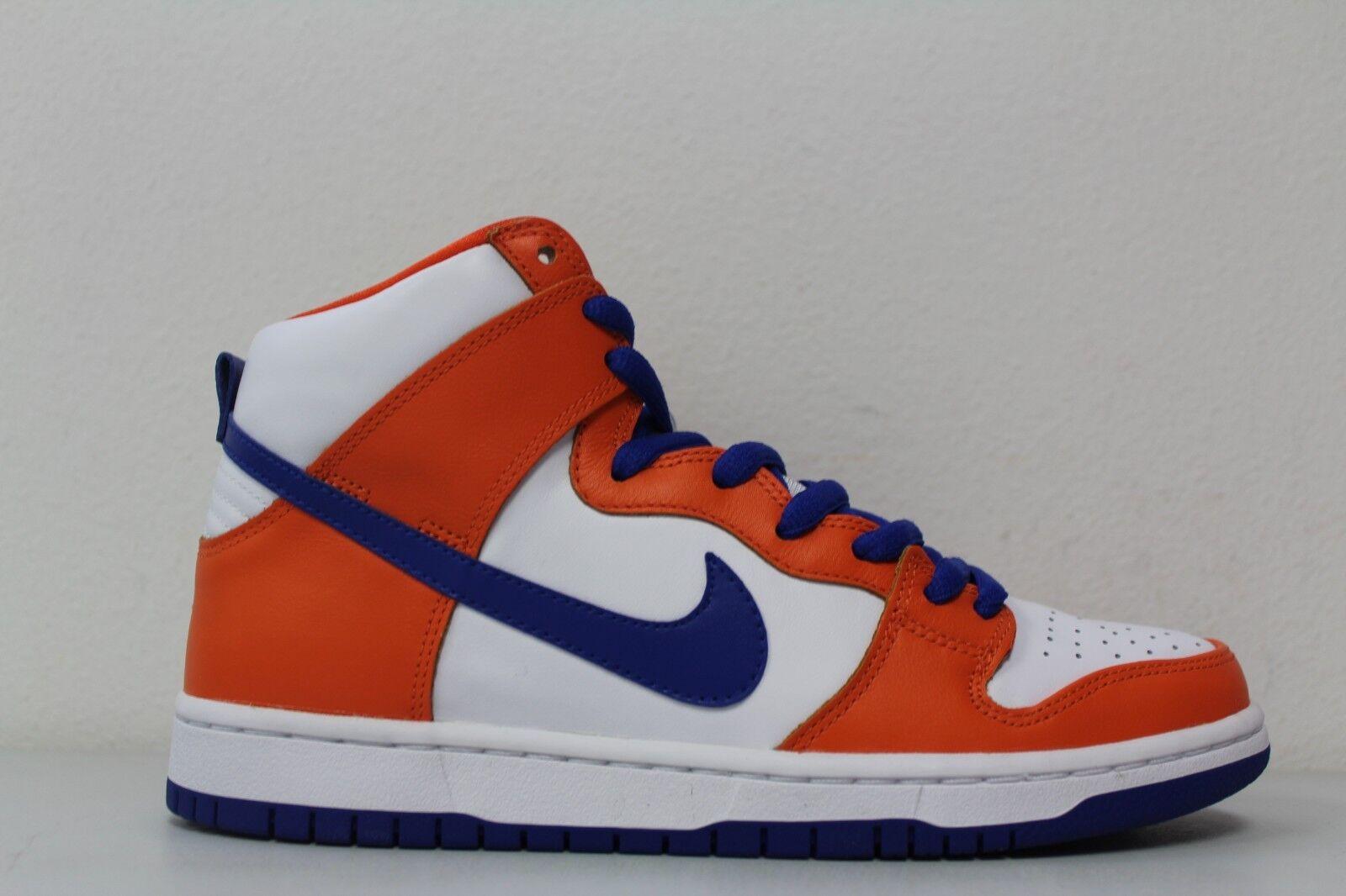 Nike Mens SB Dunk High TRD QS Size 9 Danny Supa Safety Orange Blue AH0471-841