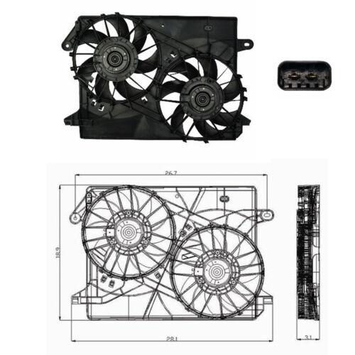 Rad /& Cond Fan Assembly Fits 2005-2008 Chrysler 300 V6 2.7L 3.5L V8 5.7L 6.1L