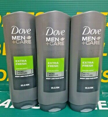 3 Pack Dove Men Care Body Face Wash Extra Fresh Cooling Agent 18 Oz Each 11111062184 Ebay