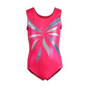 8f472bec6 Ballet Sparkle Gymnastics Leotards Girls 4-8Y Dancewear GYM Bodysuit ...