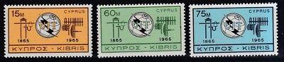 Zuversichtlich Zypern 1965 Postfrisch Minr itu 253-255 Internationale Fernmeldeunion
