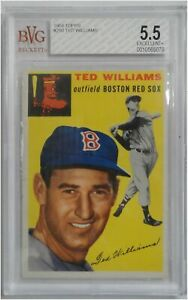 Details About Ted Williams 1954 Topps Vintage Baseball Card Graded Bvg Ex 55 Red Sox 250