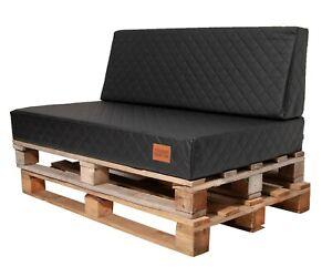 LUXUS Moderne Palettenauflage,Sitzauflage,Eco Leder Gesteppt,Schaumstoff