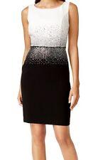 Calvin Klein New Petite Rhinestone Colorblock Sheath Size 6P MSRP $149 #GN 620
