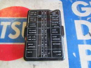 280z fuse box wiring diagram datsun 76 280z black fuse box cover image is loading datsun 76 280z black fuse box
