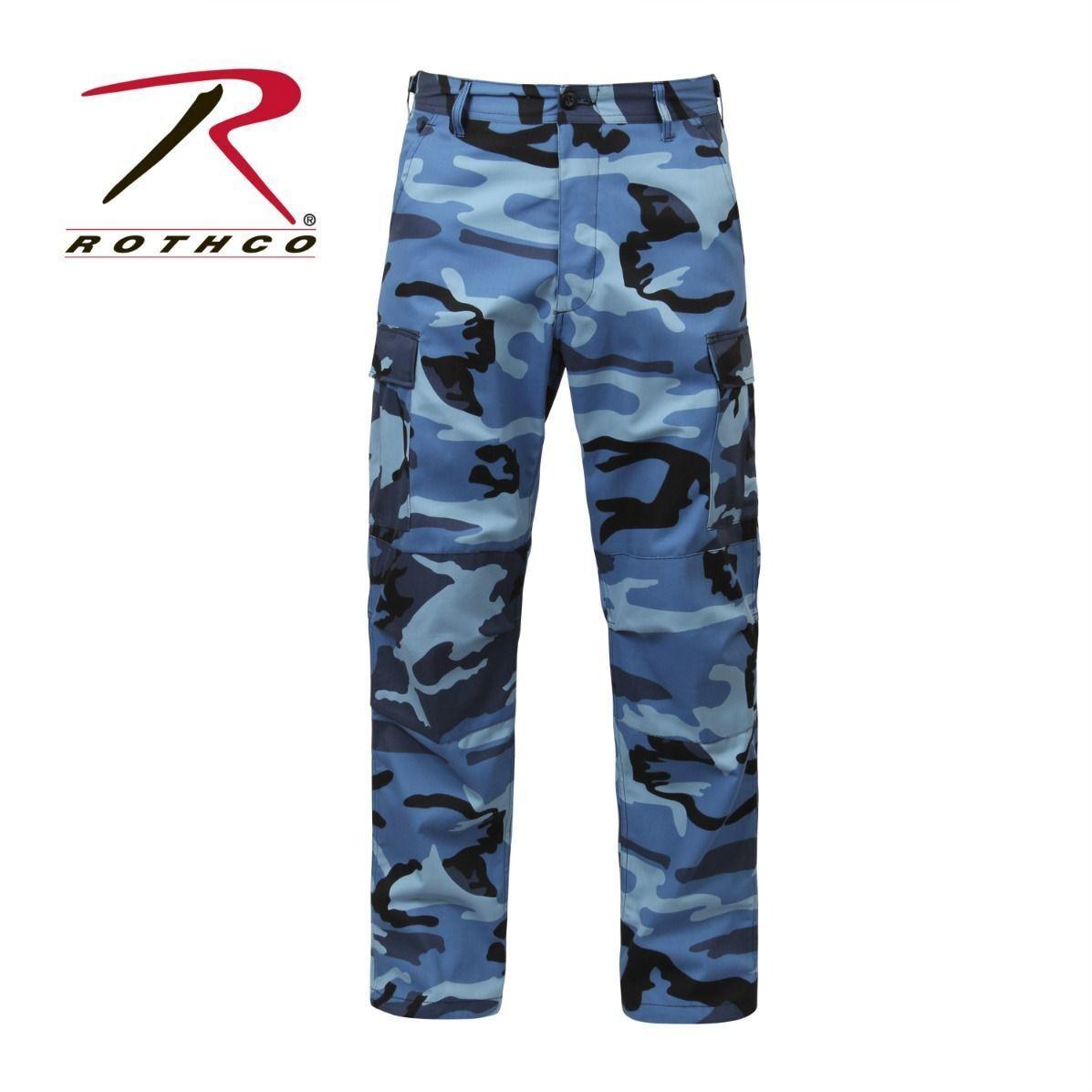redhco 7882 New Sky bluee Camo Military Cargo Polyester Cotton Fatigue BDU Pants