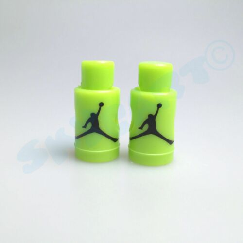 1 Pair New Jordan 6 Green Volt// Black Replacement lace locks pistons