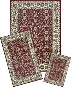 Image is loading Area-rugs-Set-mat-RUNNER-area-RUG-3-