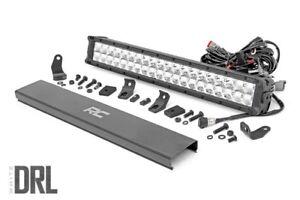 20-inch-Cree-LED-Light-Bar-Dual-Row-Chrome-Series-w-White-DRL-70920DRL