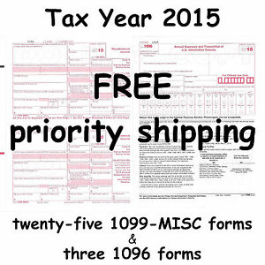 25-1099-MISC-Miscellaneous-Income-2015-IRS-Tax-Forms-amp-3-1096 ...