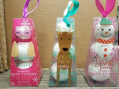 SCENTED BATH FIZZERS XMAS THEMED 3 FRAGRANCES