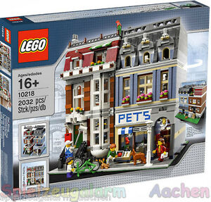 LEGO-EXKLUSIV-Zoohandlung-10218-Pet-Shop-L-animalerie-Animales-HARD-TO-FIND-Ovp