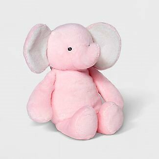 NWT Carters Just One You Pink Elephant Crinkle Ears Plush Rattle Baby Toy Lovey