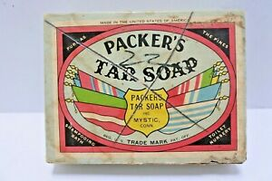Packer-039-s-Tar-Soap-with-WWII-Packaging-Box-Advertising-Box-Made-in-USA