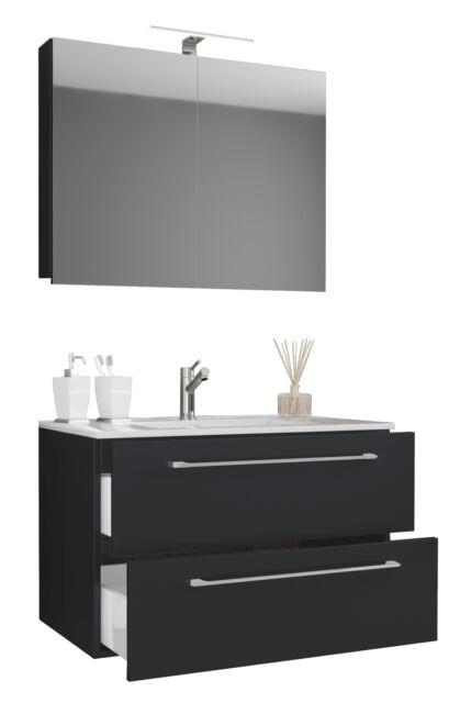 5822 Handwaschplatz Alexo Mineralgussbecken HGL Front Gäste WC 40cm Badezimmer