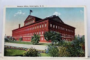 Washington-DC-Pension-Office-Postcard-Old-Vintage-Card-View-Standard-Souvenir-PC