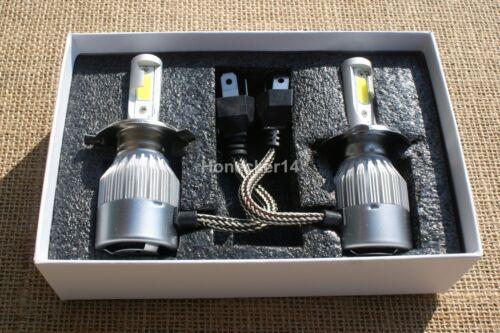 H4 9003 LED Conversion High Low Beam Bulb 6000K Fits Classic Car 12V Neg Earth