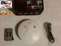 Spy Gadget Smoke Detector Wall Ceiling Alarm Hidden Video Camera Audio Recorder