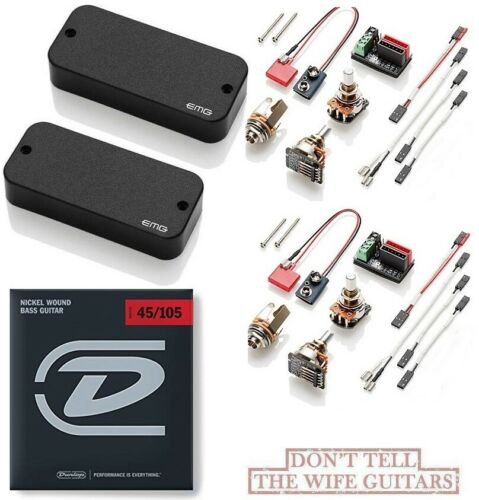 BASS STRINGS EMG TBCS THUNDERBIRD BASS ACTIVE PICKUP SET CERAMIC STEEL MAGNETS