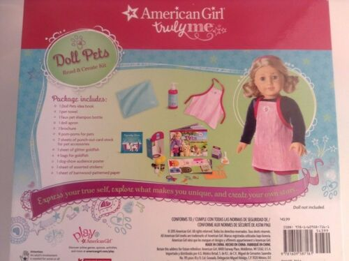 American Girl Truly Me Doll Pets Playset  Read /& Create Kit