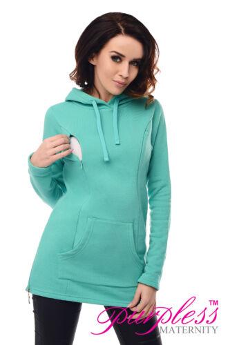 2in1 Maternity /& Nursing Warm Hoodie Pregnancy Breastfeeding Top Size 8-18 9050