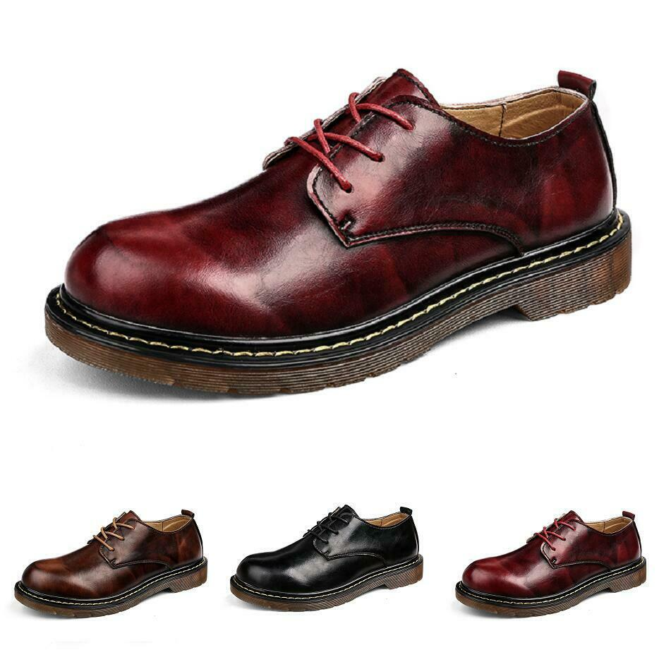 39-44 Herrenschuhe Low Top Oxfords Outdoor Business-Schuhe Runde Form Work Retro