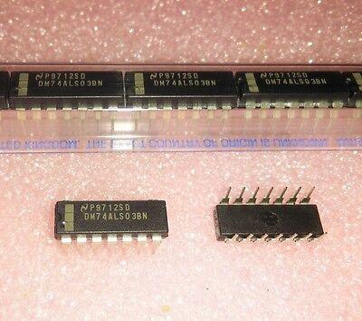 10x NSC 74AC00PC QUAD 2 INPUT NAND GATE 14-DIP