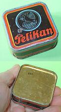 Vintage German PELIKAN GUNTHER WAGNER  Litho Tin Box 1930-40's