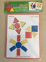 Lakeshore Learning Attribute Block Activity Cards - Rr214 - - Msrp $12.99