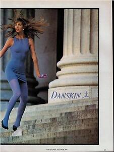 1985 NO NONSENSE PANTYHOSE COLOR  SHEER    PRINT AD 2-pg