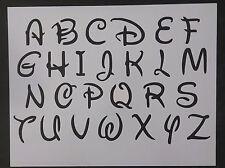 "Disney Alphabet Letters Numbers 1.4"" Font 11"" x 8.5"" Custom Stencil FREE SHIP"