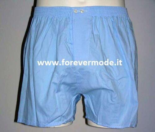 Europa 3 Boxer uomo Vela in cotone sanforizzato apertura 2 bottoni regolabili