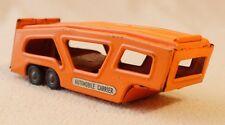 "S.S.S. Shioj Japan Vintage ""Worldwide Automobile Carrier"" Tin Trailer 6"" Orange"